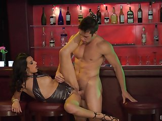 Skinny whore fucked at the club and jizzed well