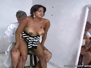 Indian mummy is getting humped in front of the camera and loving every single 2nd of it