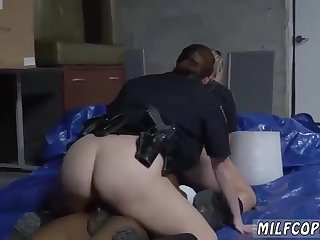 Police femmes are using their posture to bang various studs, even while they should be working
