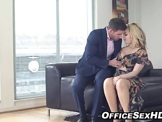 Chock-full towheaded in pantyhose nails her boy after personate