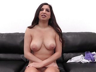 Busty brunette MILF Alexa first time anal on the casting couch