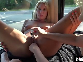 Slinky lesbians have fun with toys - nasty alysha