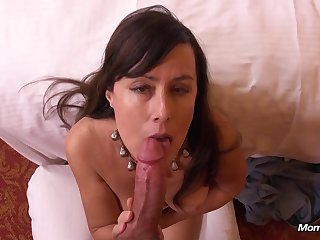 54yo Fledgling GILF is a Late Bloomer. Drills MOMPOV Very First Time