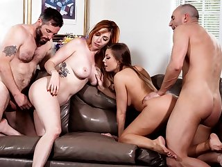 Hard Pound Grop Hard Sex With Two Provocative Chicks - HARDCORE MOVIE