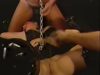 Vintage MILF Janey Robbins Punished by Two Cocks