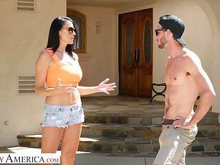 Young dude enjoys fucking mega busty friend's mommy Reagan Foxx