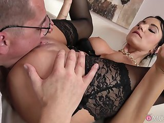 Ania Kinski cums from feet up pussy fucking and five star cunnilingus.