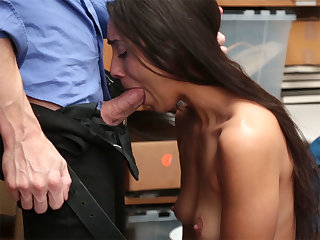 Hotness latina fucks by a bad policeman with big male stick