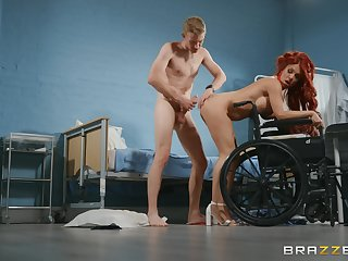 Mature redhead, naughty fuck play with a man with a huge dick