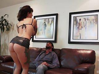 Provocative Dolly Darko prefers amazing blowjob before rough sex