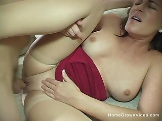 Beautiful 44 year old cougar Bella Roxxx is ready to make her first homemade porn flick!