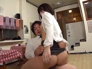 Stunning office babe gets her hairy cunt drilled at work