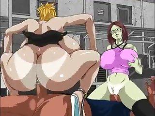 Megatits vs Zombie fuckers Hentai Porn Video