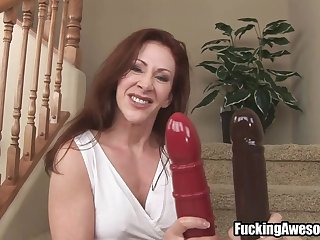 Mature Lady Buys A New Sex Toy