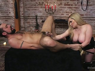 Male humiliation video starring bodacious busty mistress Aiden Starr