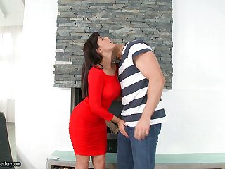 British seductress Ava Dalush gets her hairy pussy fucked and licked