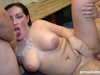 The men fuck her tiny holes restless and she's obsessed