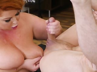 Sultry Housewife - BBW redhead with huge ass in hardcore with cumshot