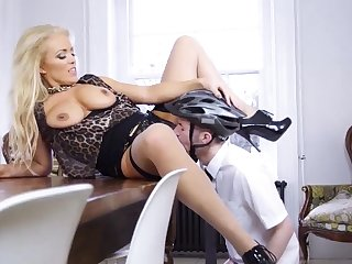 Blonde milf eats cum and hairy Having Her Way With A