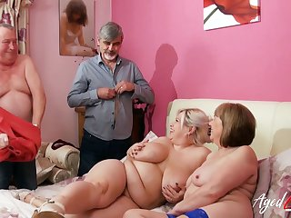 AgedLovE Buxom Mommies Experiencing Hard Fuck Sex Act