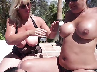 Melody, Devon & Organa's Lesbo Orgy In The Pool - TacAmateurs