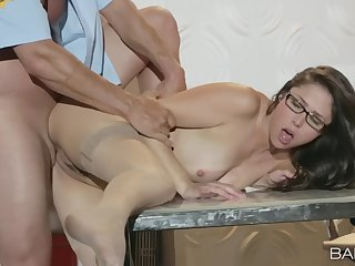 First day at the office and already fucked in the ass
