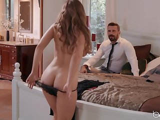 Wife Lena Paul dresses up in sexy lingerie to be fucked by her man