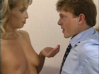 Retro porn scene with sizzling MILF