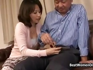 Sex With My Asian Japanese Raunchy Aunt In Home Kitchen