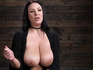 Thick Aussie's interview after some hot bondage session