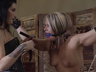Lesbians have some kinks on ropes and bondage and like to do very naughty stuff while fucking