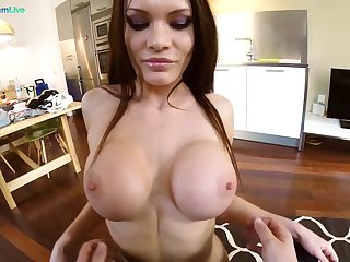 Stunning MILF taped when dealing dick like a goddess