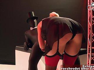 German blonde big tits milf at fetish anal gangbang