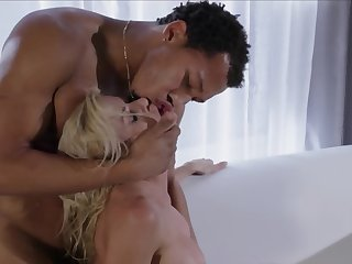 Curvaceous blonde gets dominated by a black guy