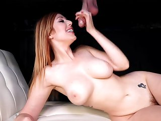 Gloryhole during a naughty treat for Lauren Phillips