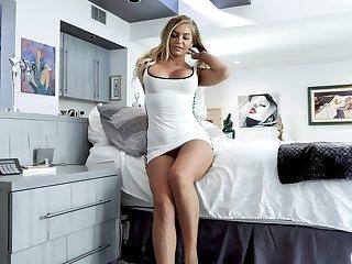 Elegant MILF gets her dose of cock while being filmed