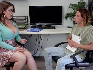 Babe with huge boobs Natasha Nice is fucked by boy with big cock Tyler Nixon