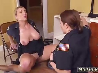 Round police damsels could not hold back from banging a stud they were supposed to arrest