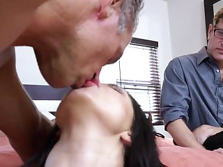Naked wife fucked before of her hubby big time