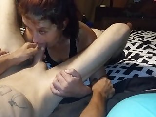 Wife knows how to suck daddy dick