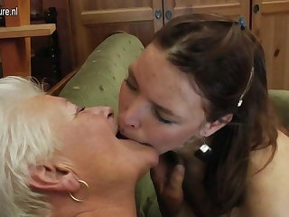 Old grandma on young lesbian girl