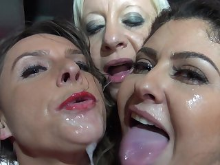 Brutal sex down at the strip club for a bunch of girls