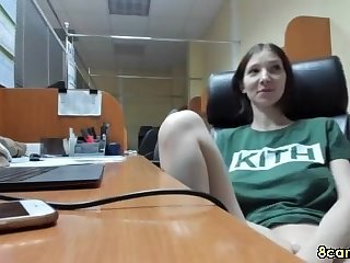raunchy mother I´d like to fuck has a lot of fun at work
