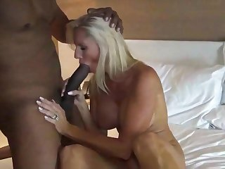 BBC fuck blonde sexy wife in hotel room