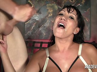 Ava gets dicked from both ends while these guys use her holes