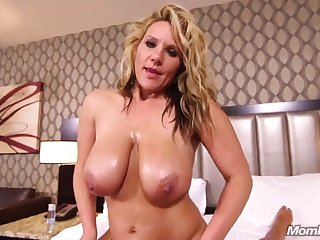 natural big tits MILF has POV sex in hotel room