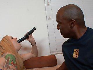 Kinky blonde MILF interracial crazy porn video