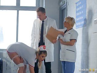horny nurse Marica Chanelle adores fuck and a blowjob in the hospital